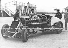 BABS Parry Thomas in Brooklands paddock 1926 (b) photo